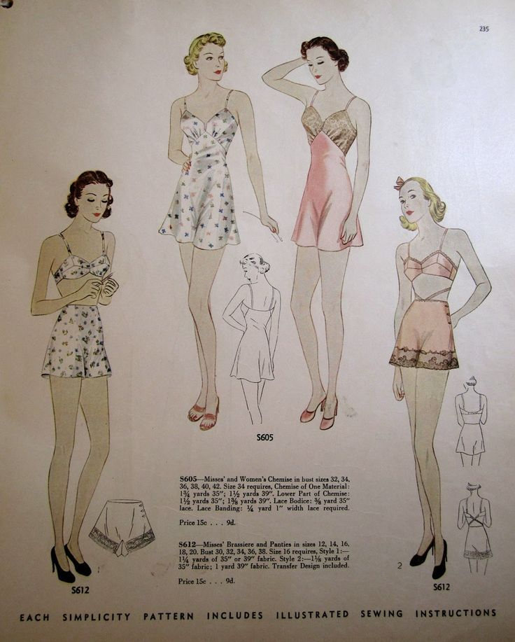 A Few Threads Loose: Simplicity S-Series patterns - I have dated them at last! - lingerie models, teen lingerie, lingerie corset *ad