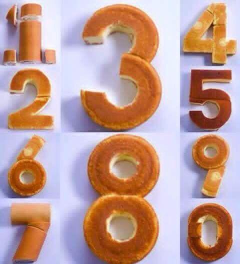 Bolo número cake number 0 1 2 3 4 5 6 7 8 9
