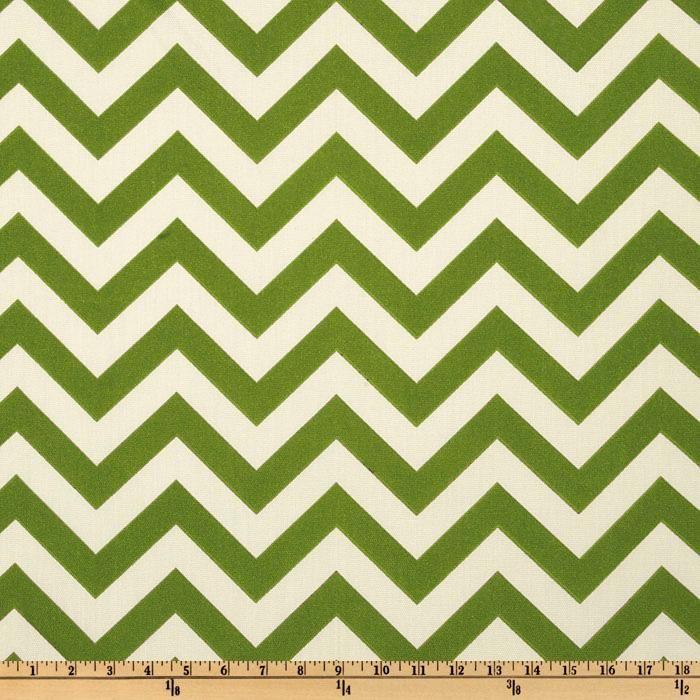 Premier Prints Indoor/Outdoor ZigZag Greenage - Discount Designer Fabric - Fabric.com