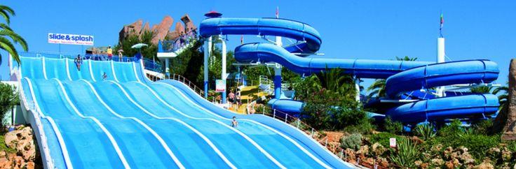 Slide and Splash - Um dos Melhores Parques Aquáticos da Europa no Algarve! Toboágua em Portugal!! Quero!!!