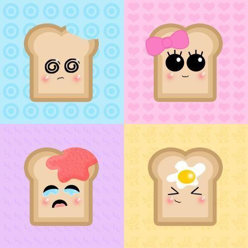 dibujos tiernos de comida - Buscar con Google
