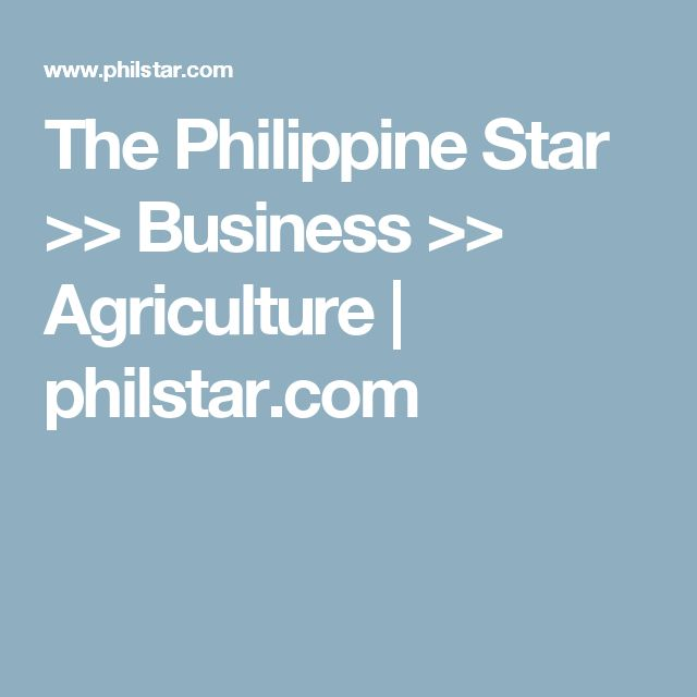 The Philippine Star >> Business >> Agriculture | philstar.com
