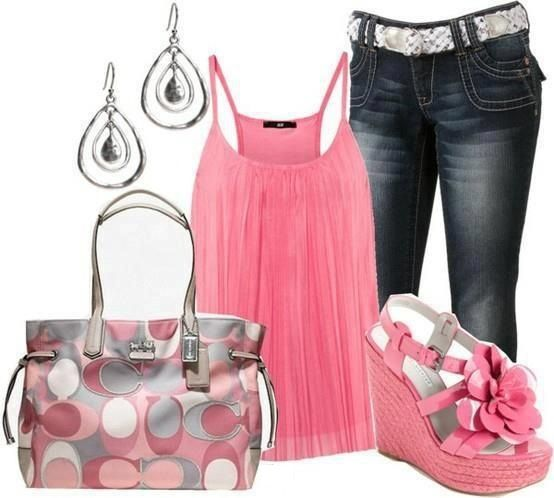 80 Best Pink Gray Black Outfits Images On Pinterest