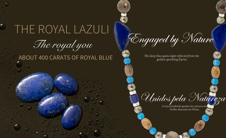 400 Carats of Lapis Lazuli Royal Blue  Engaged by Nature. The deep blue gains light reflected from the golden sparkle from the Pyrite.     #BCSocietyMagazine  #BCJewelleryCulture  #BRASACANELA   Read more:   http://www.brasacanela.ch/en/brasa-magazine/