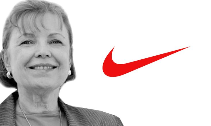 Carolyn Davidson / Nike  Carolyn Davidson was a student at Portland State when she designed the Nike logo. She was paid $35 for her logo, but was given stock later (now worth $643k). Mr Knight, founder of Nike originally said:  Well, I dont love it, but maybe it will grow on me.