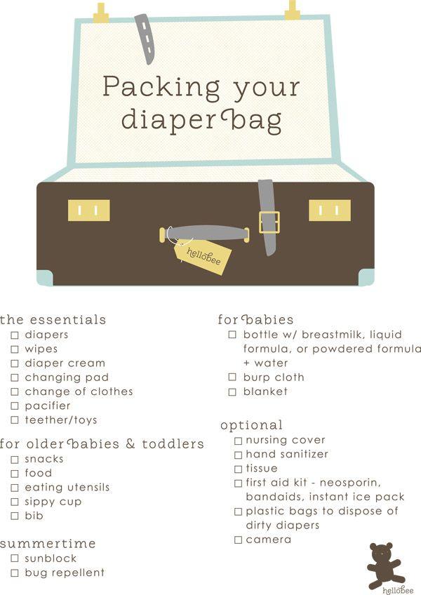 packing a diaper bag