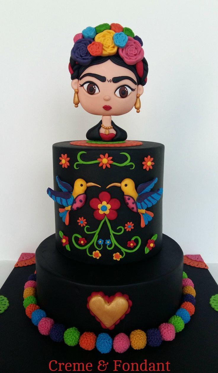 Frida Kahlo cake.