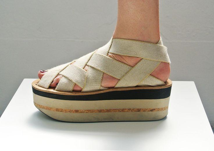 Arielle de Pinto LVMM - Woven Tape Sandal - Beige