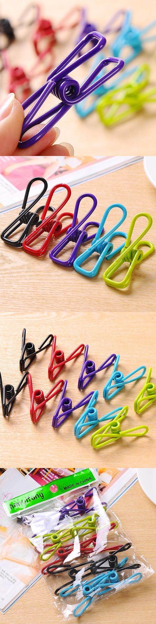 10pcs/set Mini Multi-color Small Clip Creative Photo Clip Hanger Clip Towel Clips