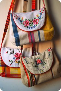 Use those embroidered clothes, made by your grandma. She will be proud that you use them. #recycle