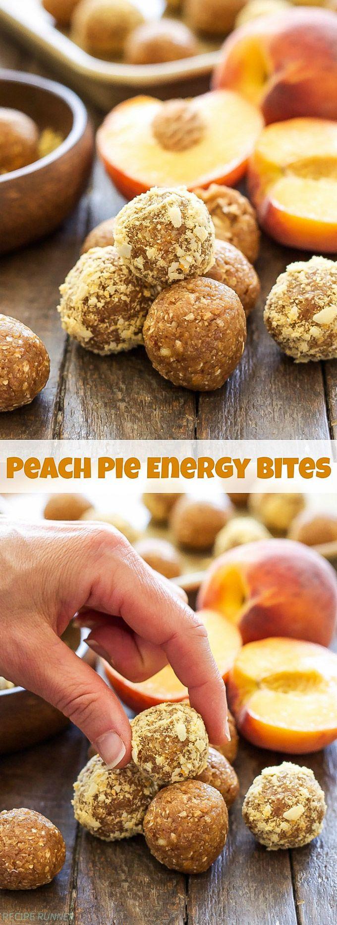 Peach Pie Energy Bites | Gefriergetrocknete Pfirsiche geben diesen Peach Pie Energy Bites …   – Sweets