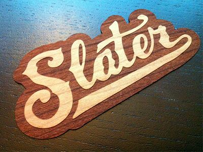 Slater Wood Stickers by Nick Slater