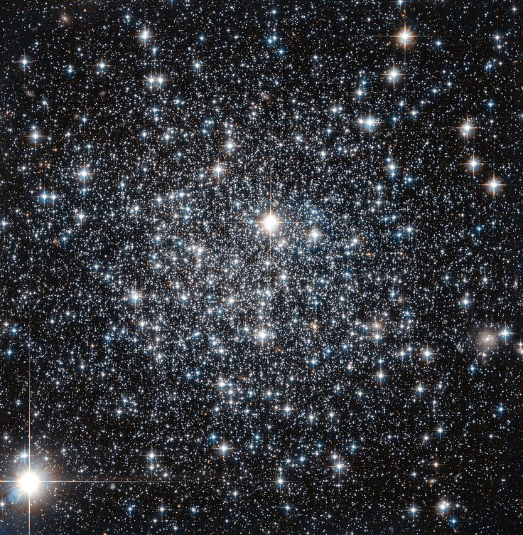 Globular clusters are big balls of old stars that orbit around their host galaxy. It has long been believed that all the stars within a globular cluster form at the about same time, a property which can be used to determine the cluster's age. http://www.wired.com/2014/08/wired-space-photo-of-the-day-for-august-2014/