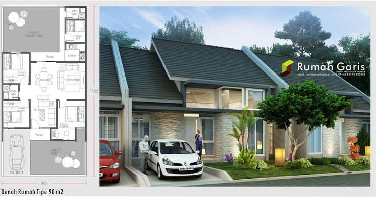 Beragam desain rumah denah dan tampak dari berbagai tipe 36, 45, 54, 70, 90, dll dengan kualitas photorealistic. Kami menerima jasa desain...