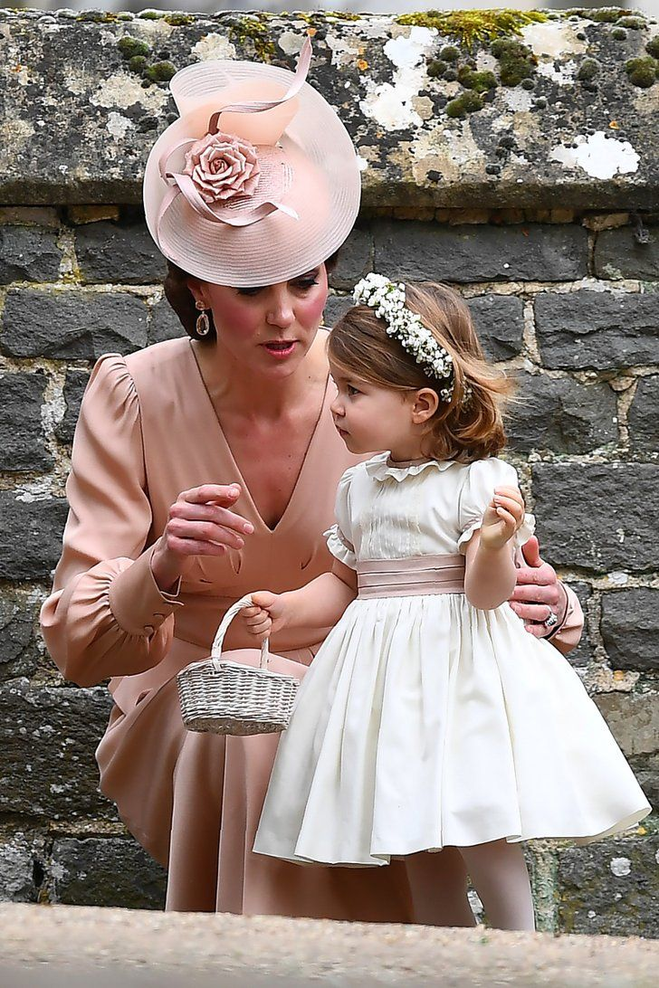 Kate Middleton Gives Princess Charlotte a Flower Girl Pep Talk at Pippa's Wedding