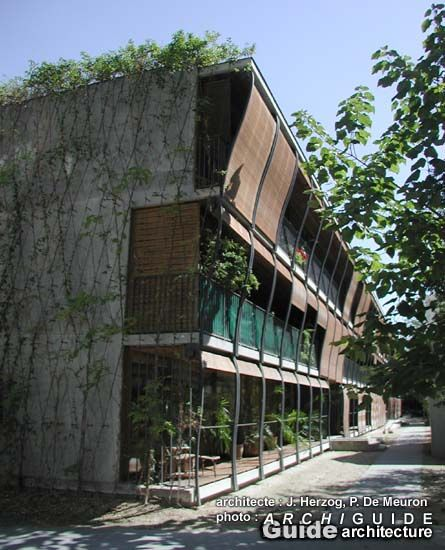 Hebelstrasse herzog de meuron google search r2 r3 pinterest contemporary architecture - The house on the corner contemporary paris ...