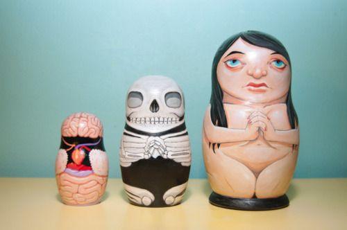 Anatomy nesting dolls