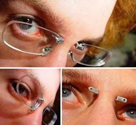 Pierced Glasses -- OUCHIE!!!!!!: Piercings Eyeglasses, Body Modified, Eyeglasses Constant, Eyeglasses 2, Eyes Glasses, Eyeglasses Mount, Bridges Glasses, Frameless Eyeglasses, Piercings Glasses