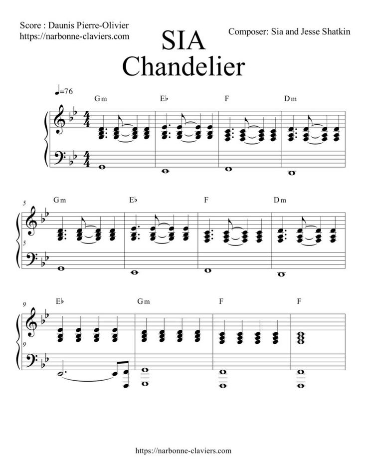 Gratuit : Téléchargez la partition complète de CHANDELIER SIA pour piano FREE PIANO SHEET MUSIC Chandelier Partition Piano  https://narbonne-claviers.com/sia-chandelier-partition-piano