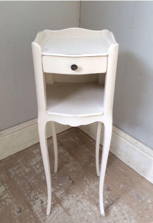 VINTAGE FRENCH SLIM BEDSIDE TABLE