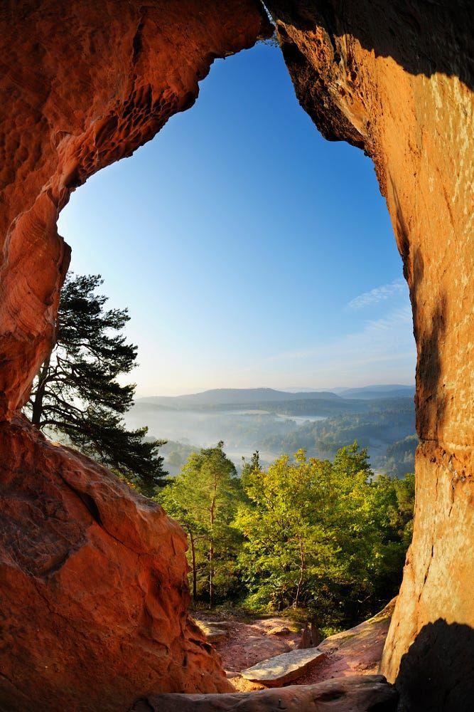 Cave in Sandstone, Hochstein, Dahn, Dahner Felsenland, Pfalzerwald, Rhineland-Palatinate, Germany by Radius Images on 500px