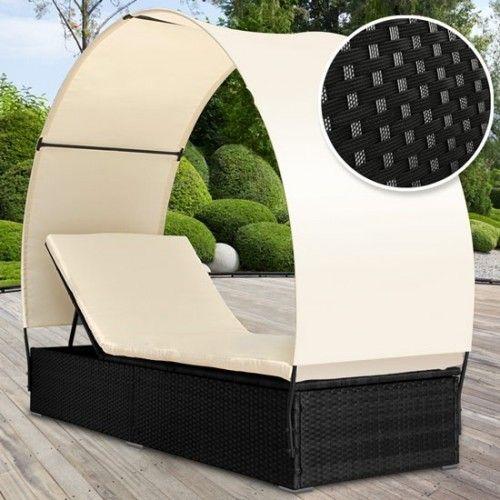 Polyrottinkinen aurinkotuoli 4, 189,95€. Hieno lounge-tyyppinen aurinkotuoli joka soveltuu monenlaiseen käyttöön. Varustettu kaarevalla aurinkosuojalla, jonka voi myös tarpeen mukaan irrottaa. Helppo ylläpitää, sekä polyrottinki että pintakäsitellyt kankaat kestävät hyvin säätä. Ilmainen toimitus! #aurinkotuoli
