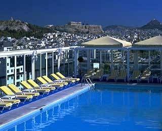 Rooftop Pool Athens Ledra Marriott Hotel Athens Greece Travel