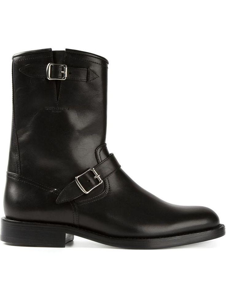 Handmade Men black biker boot, Men black side zipper boot, Men style monk boot  #Handmade #Ankleboot #Casual