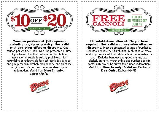 Buca di beppo coupon 2018 june