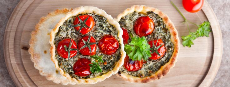 Our plant-based Spinach and Mushroom Quiche includes instructions for a tofu or chickpea flour batter, your choice! Traditional taste without the eggs.