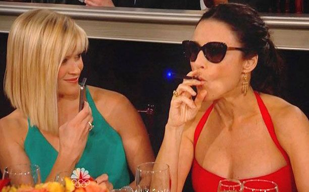 Celebrities caught vaping electronic cigarettes at Golden Globes.