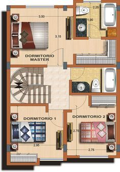 https://flic.kr/p/fQzB9u   Casa tipo B - Planta 2   Alexina 1 - Distribuciones…