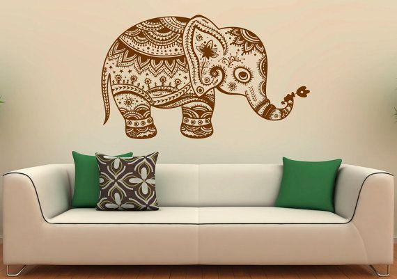 Elefante indio pared calcomanía vinilo Stickers por BestDecalsUSA