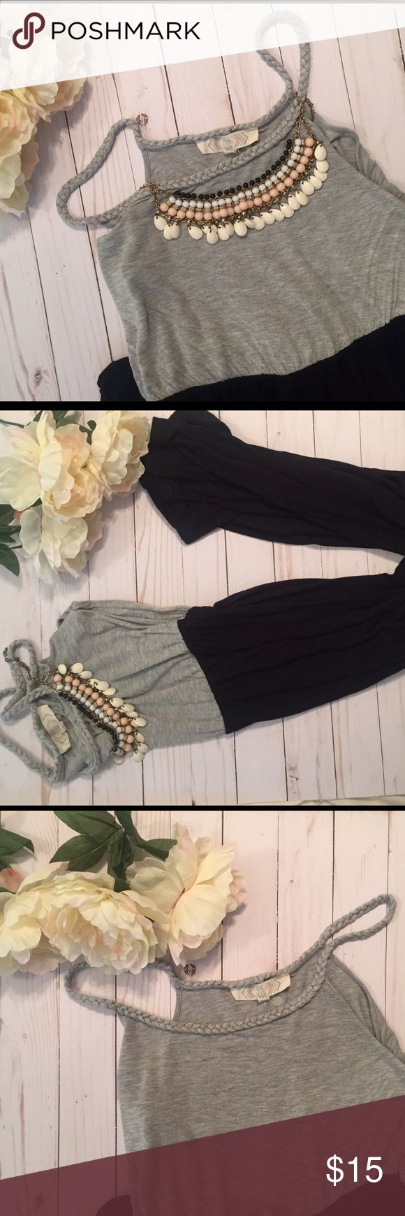 Grey & Black Maxi Dress Grey top and black skirt Maxi Dress, very flattering and casual. Dresses Maxi