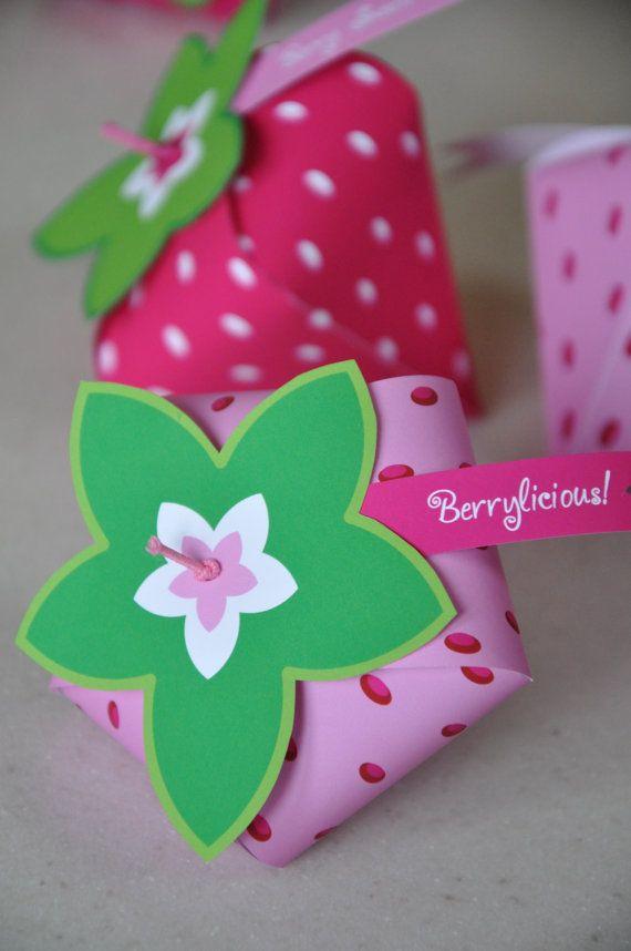 Strawberry Shortcake inspirado caja del favor por GlitterInkDesigns
