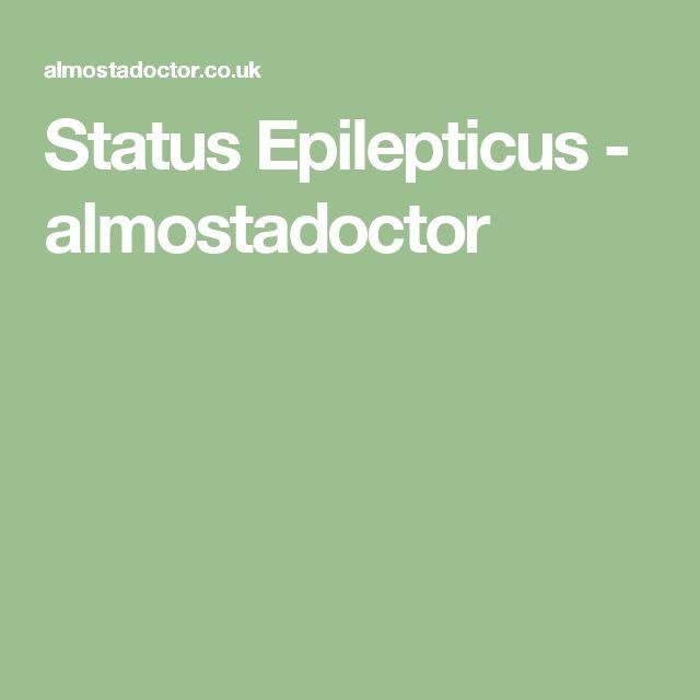 Status Epilepticus - almostadoctor