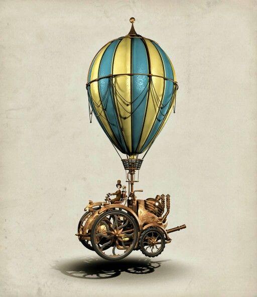steampunk hot air balloon steampunk pinterest