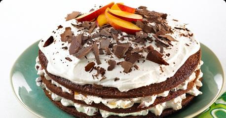 Nectarine-chocolate layer cake