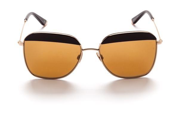Aviator Black Frame And Italian Cr39 Uv Subtle Gold Mirror Lens Vito Sunglasses
