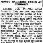 articolo 18 july 1944 monte maggiore livorno