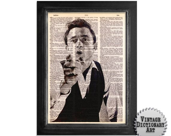 The Young Johnny Cash - The Musician Series - Printed on Vintage Dictionary Paper - 8x10.5 - Dictionary Art Print by VintageDictionaryArt on Etsy https://www.etsy.com/listing/100145276/the-young-johnny-cash-the-musician