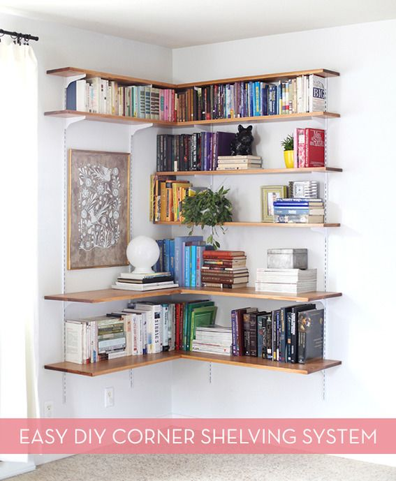 Build a large corner shelf woodworking projects plans for Large bookcase plans