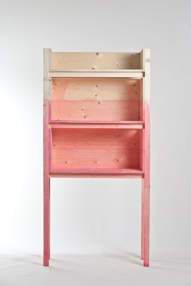 dip dye pink shelves