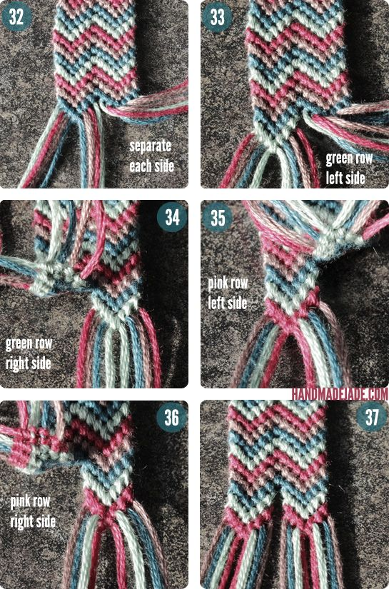 DIY Double Chevron Friendship Bracelet #friendshipbracelets #bracelets #fashion #style #diy #double #macrame