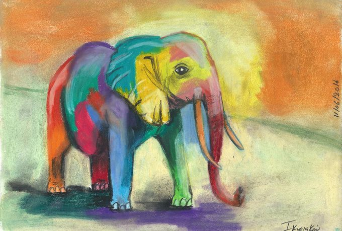 color sketch your pet or favorite animal on fiverr, check it out! I use my favorite colors!
