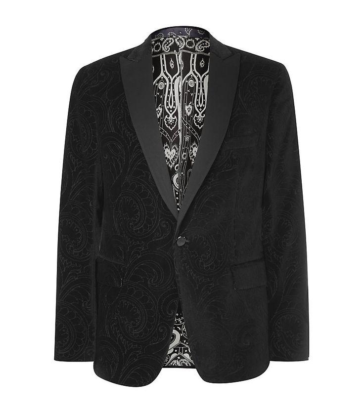 Etro Embossed Velvet Jacket | Harrods | Men's Fashion ...