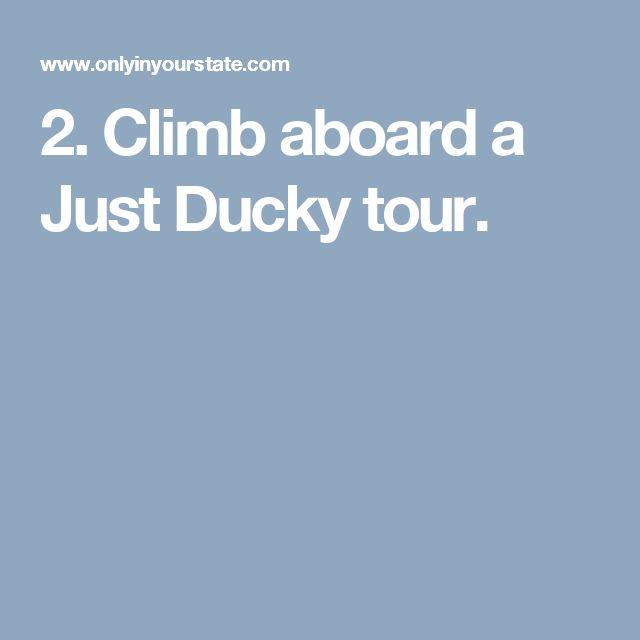 2. Climb aboard a Just Ducky tour.