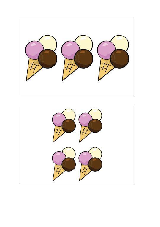 Cijfermuur - ijsjes - 1 t/m 12