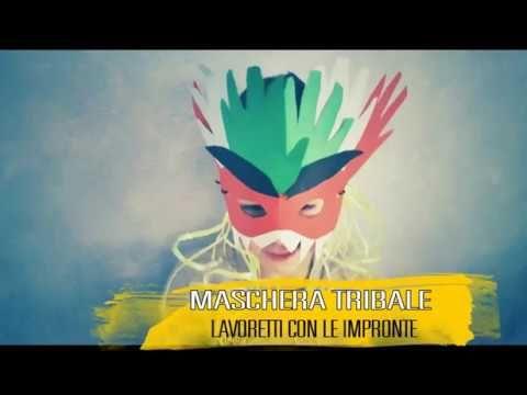 Maschera di Carnevale Tribale  lavoretto bambini con Impronte
