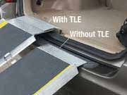 Ramp has an optional Top Extension Lip (TLE) for use with Vans, Trucks and Minivans